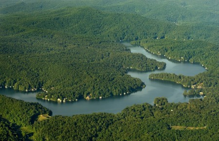Lake Rabun Aerial Photo Lakemont Ga